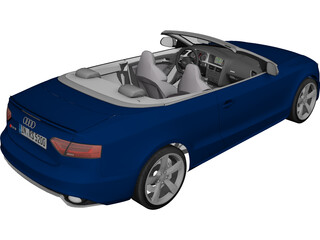 Audi RS5 Convertible (2013) 3D Model 3D Preview