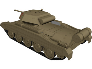 Crusader Tank 3D Model 3D Preview