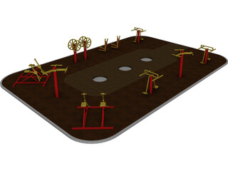Outdoor Gym Equipment 3D Model