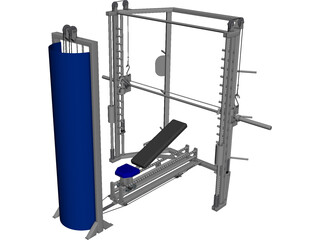 Smith Machine 3D Model 3D Preview