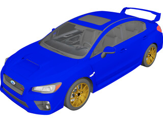 Subaru Impreza WRX STi (2015) 3D Model 3D Preview