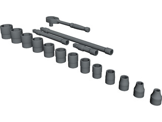 Socket Set CAD 3D Model