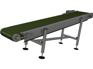 Conveyor Belt CAD 3D Model