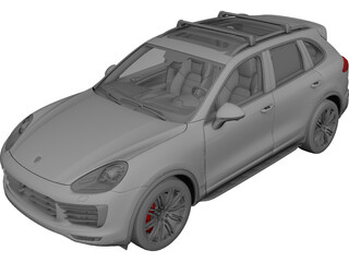 Porsche Cayenne Turbo (2014) 3D Model
