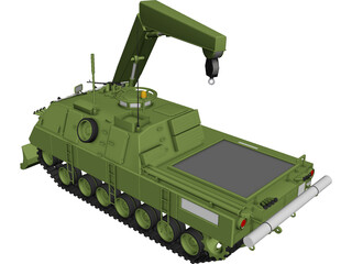 Engineer Tank CAD 3D Model