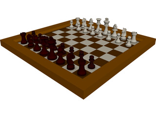 Chess Game CAD 3D Model