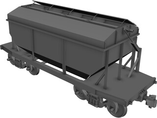 Wagon Open Lid CAD 3D Model