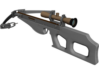 Modern Compound Crossbow 3D Model