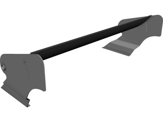 Group 5 Racing Rear Spoiler Wing CAD 3D Model