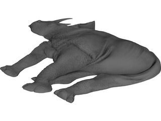 Rhino Staring Relief 3D Model