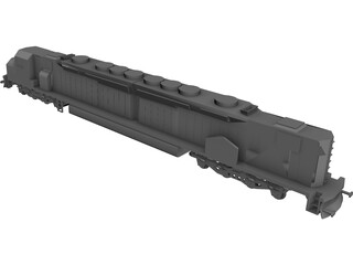 DDA40X America Locomotive 3D Model