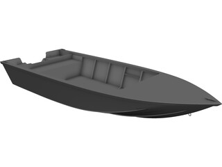 Racing Boat CAD 3D Model