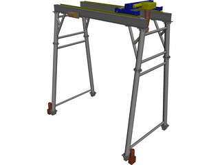 Gantry Crane CAD 3D Model