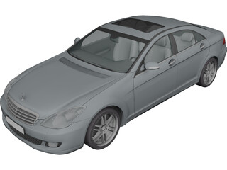 Mercedes-Benz C-Class (2007) 3D Model