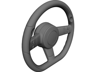 Steering Wheel CAD 3D Model