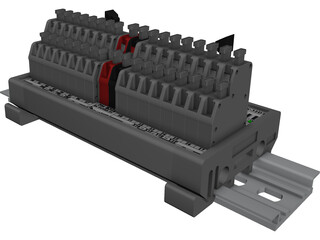 Terminal Block SVN-32DT CAD 3D Model