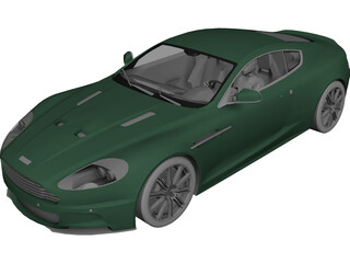 Aston Martin DBS Coupe (2006) 3D Model