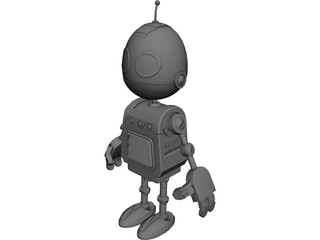 Clank Robot Pet 3D Model