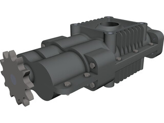 Roots Air Compressor CAD 3D Model