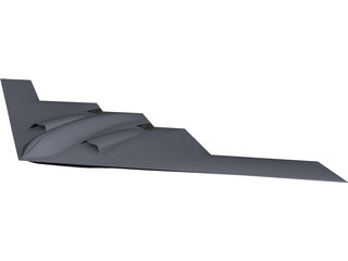 B-2 Spirit Bomber CAD 3D Model
