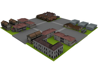 City Junction Part 3D Model