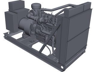 Caterpillar C15 Generator Set CAD 3D Model