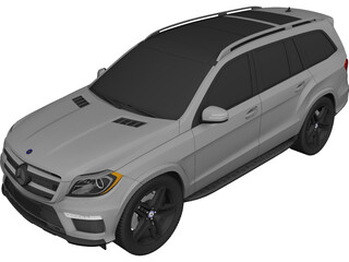 Mercedes-Benz GL 63 AMG (2012) 3D Model