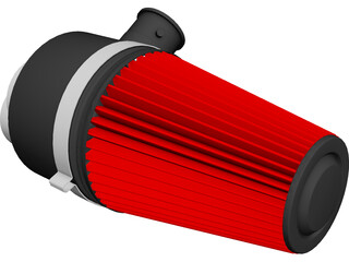 Marine Cone Air Filter CAD 3D Model