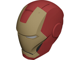 Iron Man Helmet CAD 3D Model