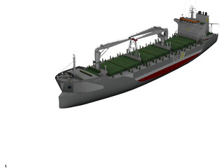 Rosaria Cement Ship 3D Model