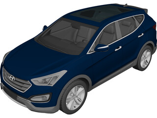 Hyundai Santa Fe Sport (2014) 3D Model 3D Preview