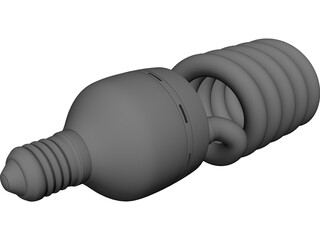 Lightbulb CFL 3D Model