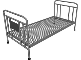Iron Bed Frame 3D Model