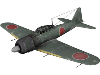 A6M Zero Ground Camo 3D Model 3D Preview