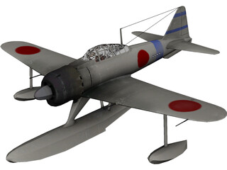 A6M Rufe Navy Camo 3D Model 3D Preview