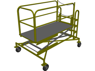 B4 Maintenance Stand CAD 3D Model