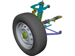 Suspension Front Off-Road CAD 3D Model