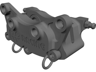 Brake Caliper AP Racing CP4227-2S0 CAD 3D Model