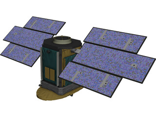 CloudSat Satellite 3D Model