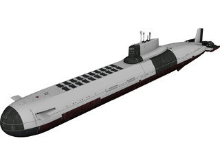 Typhoon-class Submarine 3D Model