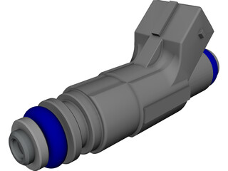 Bosch Fuel Injector CAD 3D Model