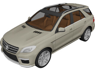 Mercedes-Benz ML63 AMG (2012) 3D Model