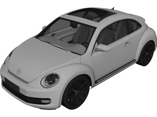 Volkswagen Beetle (2012) 3D Model