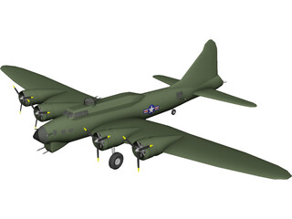 Boeing B-17G Flying Fortress 3D Model