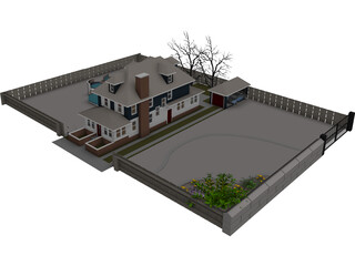 Two-Bedroom House 3D Model