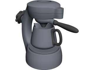 Atomic Coffee Maker 3D Model 3D Preview