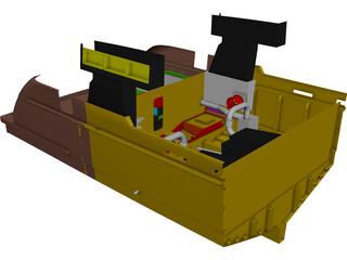 Yacht Engine Exhaust Arrangement CAD 3D Model