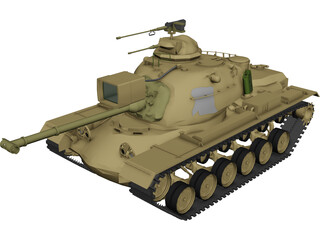 M48A3 Patton Main Battle Tank 3D Model