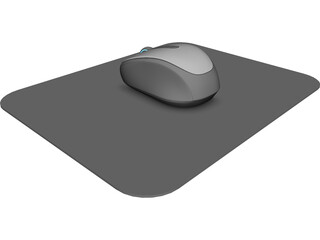 Wireless Mouse 3500 3D Model