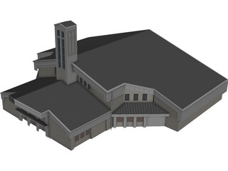 Church St.Pauls Lutheran 3D Model